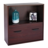 Après File Drawer Cabinet With Shelf, 29 3/4w x 11 3/4d x 29 3/4h, Mahogany