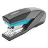Optima 25 Reduced Effort Stapler, Full Strip, 25-Sheet Capacity, Gray/Blue