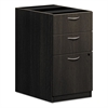 BL Laminate Three Drawer Pedestal File, 15 5/8 x 21 3/4 x 27 3/4, Espresso