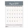 Recycled Bar Harbor Wirebound Academic Monthly Wall Calendar, 15.5x22, 2016-2017