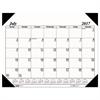 Recycled Economy 14-Month Academic Desk Pad Calendar, 22 x 17, 2017-2018