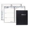 Recycled Academic Weekly/Monthly Appointment Book/Planner, 5x8, Black, 2016-2017