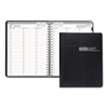 Recycled Professional Academic Weekly Planner, 8-1/2 x 11, Black, 2016-2017
