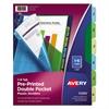 Preprinted Plastic Tab Dividers w/Double Pockets, 6-Tab, 11 x 9
