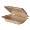 Wheat Straw Hinged Clamshell Containers, 6 x 9 x 3, 300/Carton