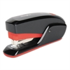QuickTouch Reduced Effort Compact Stapler, 20-Sheet Capacity, Black/Red