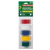 "Electrical Tape, 3/4"" x 12 ft, 1"" Core, Assorted, 5/Pack"