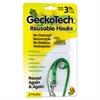 GeckoTech Reusable Hooks, Plastic, 3 lb Capacity, Clear, 2 Hooks