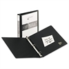 "Economy View Binder w/Round Rings, 11 x 8 1/2, 1"" Cap, Black"