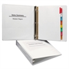 "Economy View Binder w/Round Rings, 11 x 8 1/2, 1 1/2"" Cap, White"