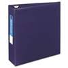 "Heavy-Duty Binder with One Touch EZD Rings, 11 x 8 1/2, 3"" Capacity, Navy Blue"