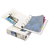 "Heavy-Duty View Binder w/Locking 1-Touch EZD Rings, 2"" Cap, White"