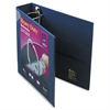 "Heavy-Duty View Binder w/Locking 1-Touch EZD Rings, 2"" Cap, Navy Blue"