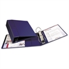 "Heavy-Duty Binder with One Touch EZD Rings, 11 x 8 1/2, 4"" Capacity, Navy Blue"