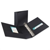 """Durable Binder with Two Booster EZD Rings, 11 x 8 1/2, 3"""", Black"""