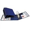 "Heavy-Duty Binder with One Touch EZD Rings, 11 x 8 1/2, 5"" Capacity, Navy Blue"