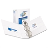 "Durable View Binder w/Nonlocking EZD Rings, 11 x 8 1/2, 3"" Cap, White"
