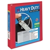 "Heavy-Duty View Binder w/Locking 1-Touch EZD Rings, 1 1/2"" Cap, Red"