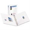 "Durable View Binder w/Nonlocking EZD Rings, 11 x 8 1/2, 1"" Cap, White"