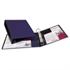 "Heavy-Duty Binder with One Touch EZD Rings, 11 x 8 1/2, 2"" Capacity, Navy Blue"