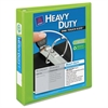 """Heavy-Duty View Binder w/Locking 1-Touch EZD Rings, 1 1/2"""", Chartreuse"""