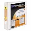 "Touchguard Antimicrobial View Binder w/Slant Rings, 2"" Cap, White"