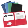 Two-Pocket Folder, 40-Sheet Capacity, Assorted Colors, 25/Box