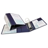 "Heavy-Duty View Binder w/Locking 1-Touch EZD Rings, 5"" Cap, Navy Blue"