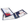 "Heavy-Duty View Binder w/Locking 1-Touch EZD Rings, 1"" Cap, Navy Blue"