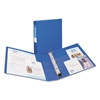 """Heavy-Duty Binder with One Touch EZD Rings, 11 x 8 1/2, 1 1/2"""" Capacity, Blue"""