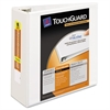 "Touchguard Antimicrobial View Binder w/Slant Rings, 4"" Cap, White"