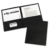 Two-Pocket Folder, 40-Sheet Capacity, Black, 25/Box
