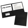 Two-Pocket Folder, 40-Sheet Capacity, Black, 25/Box