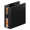"Heavy-Duty D-Ring Binder w/Extra-Durable Hinge, 4"" Cap, Black"