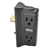Protect It! Direct Plug-In Surge Suppressor, 4 Outlets, 720 Joules, Black