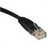 N002-010-BK 10ft Cat5e 350MHz Molded Cable RJ45 M/M Black, 10'