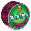 "Colored Duct Tape, 9 mil, 1.88"" x 10 yds, 3"" Core, Pink Zebra"