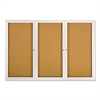 Enclosed Bulletin Board, Natural Cork/Fiberboard, 72 x 48, Silver Aluminum Frame