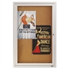 Enclosed Bulletin Board, Natural Cork/Fiberboard, 24 x 36, Silver Aluminum Frame