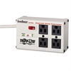 ISOBAR4 Isobar Surge Suppressor, 4 Outlets, 6 ft Cord, 3300 Joules, Light Gray