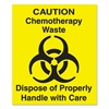 "Medical Decal, ""Chemotherapy Waste"", 6 x 6, Yellow"
