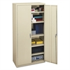 Assembled Storage Cabinet, 36w x 18-1/4d x 71-3/4h, Putty