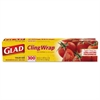 Cling Wrap Plastic Wrap, 300 Square Foot Roll, Clear, 12/Carton