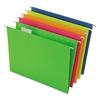 Glow Hanging File Folders, 1/5 Tab, Letter, Glow Assorted, 25/Box