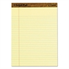 """The Legal Pad"" Ruled Perforated Pads, 8 1/2 x 11 3/4, Canary, 50 Sheets, Dozen"