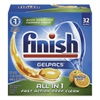 Dish Detergent Gelpacs, Orange Scent, Box of 32 Gelpacs
