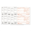 W-2 Tax Forms, 6-Part, 5 1/2 x 8 1/2, Inkjet/Laser, 50 W-2s & 1 W-3