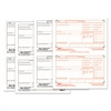 W-2 Tax Forms, 4-Part, 5 1/2 x 8 1/2, Inkjet/Laser, 50 W-2s & 1 W-3