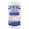 Stainless Steel Cleaner Towels, 9 3/4 x 10 1/2, 70 Wipes/Pack, 6 Packs/Carton