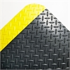 Industrial Deck Plate Anti-Fatigue Mat, Vinyl, 24 x 36, Black/Yellow Border